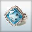 18ct White Gold Aquamarine and Diamond