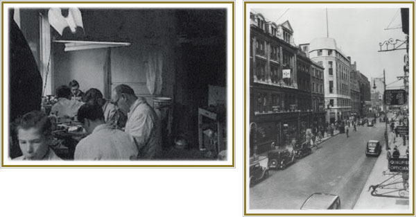 An original picture of Hatton Garden and a jewellery workshop . Lionel J Wiffen.